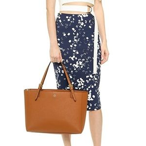 Authentic Tory Burch York Buckle Camel Tote